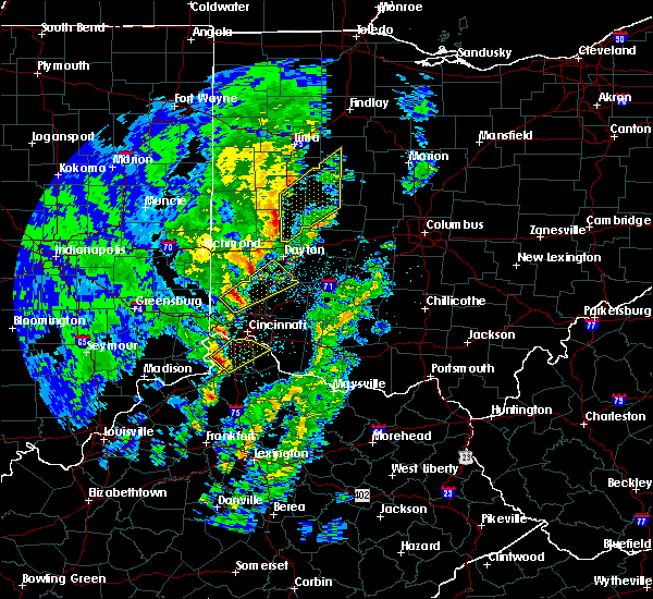 Radar Image for Severe Thunderstorms near Trenton, OH at 4/12/2019 7:51 AM EDT