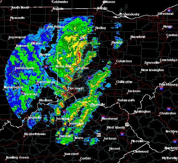 Radar Image for Severe Thunderstorms near Cincinnati, OH at 4/12/2019 8:00 AM EDT