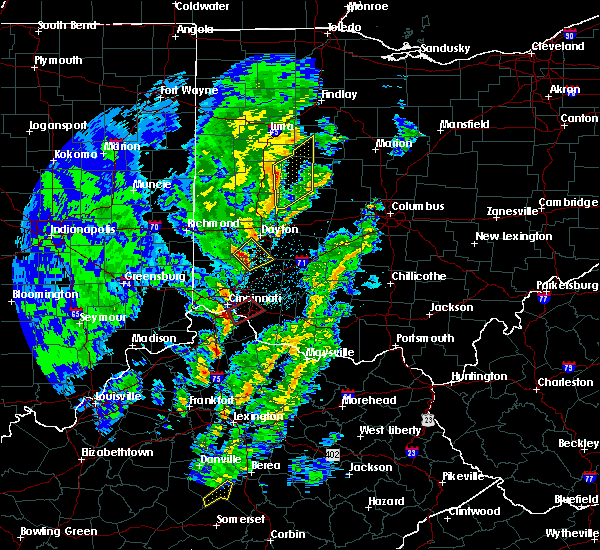 Radar Image for Severe Thunderstorms near Cincinnati, OH at 4/12/2019 8:06 AM EDT