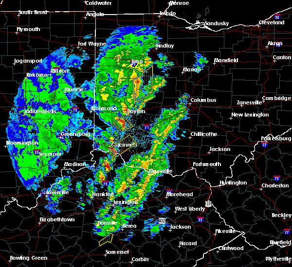 Radar Image for Severe Thunderstorms near Melbourne, KY at 4/12/2019 8:09 AM EDT