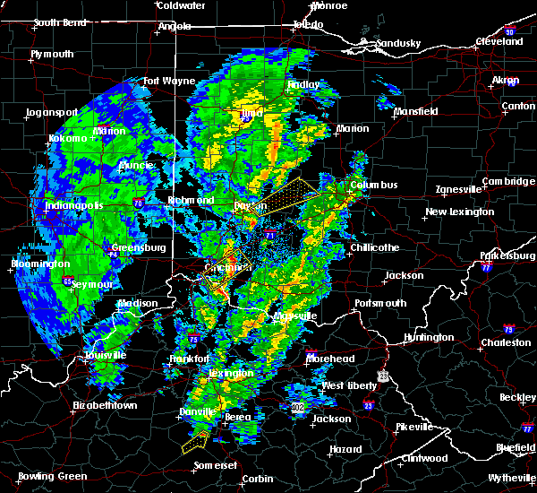 Radar Image for Severe Thunderstorms near Springfield, OH at 4/12/2019 8:24 AM EDT