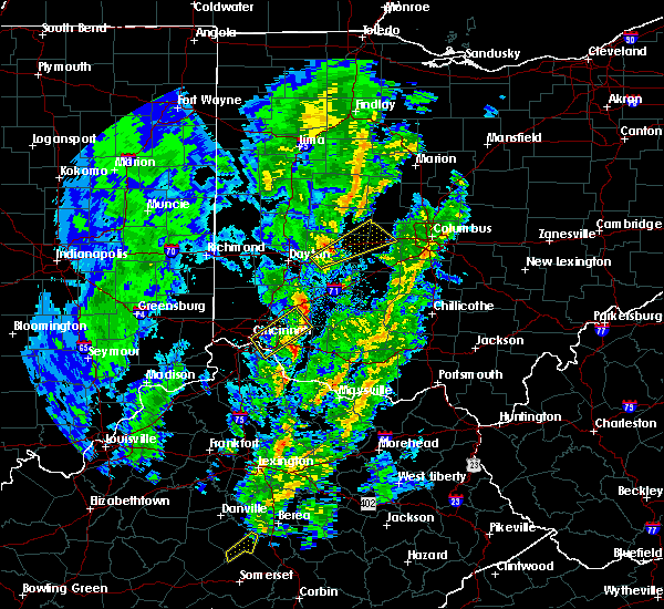Radar Image for Severe Thunderstorms near Cincinnati, OH at 4/12/2019 8:27 AM EDT