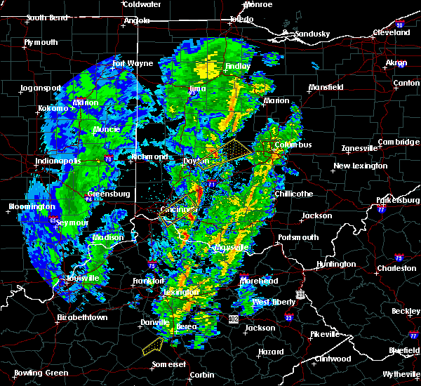 Radar Image for Severe Thunderstorms near Springfield, OH at 4/12/2019 8:33 AM EDT