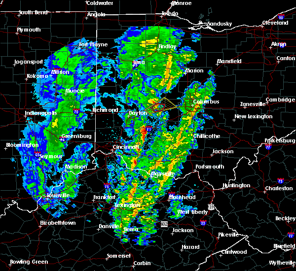Radar Image for Severe Thunderstorms near Springfield, OH at 4/12/2019 8:39 AM EDT
