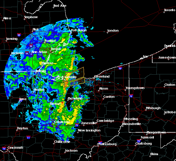Radar Image for Severe Thunderstorms near Oberlin, OH at 4/12/2019 9:39 AM EDT