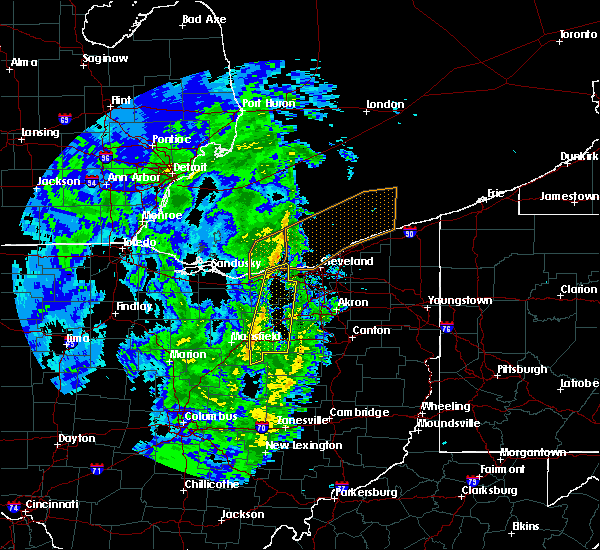 Radar Image for Severe Thunderstorms near Polk, OH at 4/12/2019 10:13 AM EDT