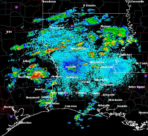 Radar Image for Severe Thunderstorms near Sam Rayburn, TX at 4/13/2019 12:01 AM CDT