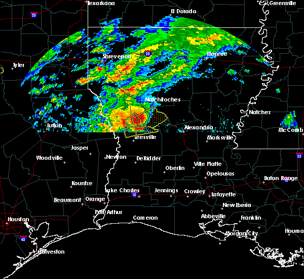Radar Image for Severe Thunderstorms near Montgomery, LA at 4/13/2019 2:17 AM CDT