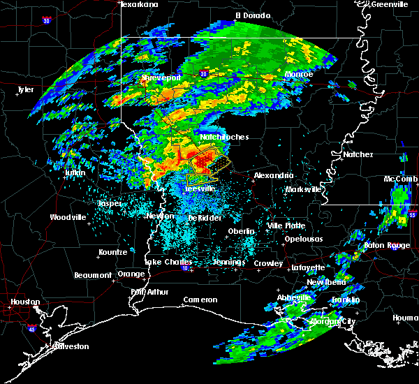 Radar Image for Severe Thunderstorms near Montgomery, LA at 4/13/2019 2:35 AM CDT