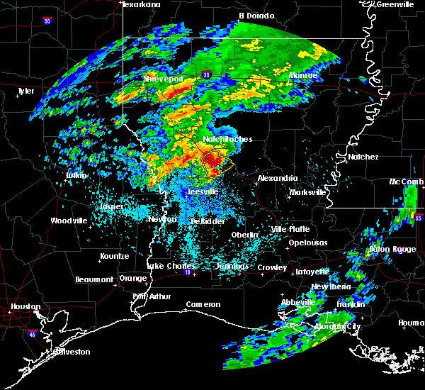 Radar Image for Severe Thunderstorms near Montgomery, LA at 4/13/2019 2:41 AM CDT
