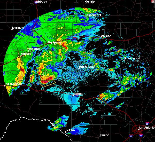 Radar Image for Severe Thunderstorms near Big Lake, TX at 4/13/2019 2:51 AM CDT