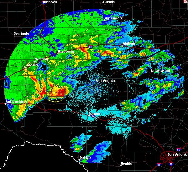 Radar Image for Severe Thunderstorms near Big Lake, TX at 4/13/2019 3:24 AM CDT