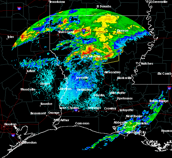 Radar Image for Severe Thunderstorms near Campti, LA at 4/13/2019 3:45 AM CDT