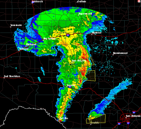 Radar Image for Severe Thunderstorms near Paint Rock, TX at 4/13/2019 7:24 AM CDT