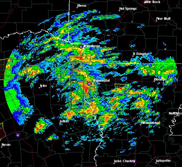 Radar Image for Severe Thunderstorms near Atlanta, TX at 4/13/2019 10:55 AM CDT