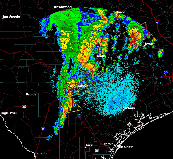 Radar Image for Severe Thunderstorms near Cibolo, TX at 4/13/2019 10:56 AM CDT