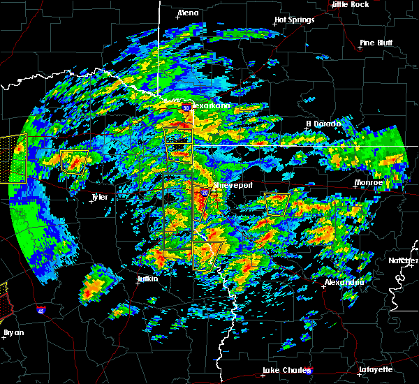 Radar Image for Severe Thunderstorms near Atlanta, TX at 4/13/2019 10:58 AM CDT