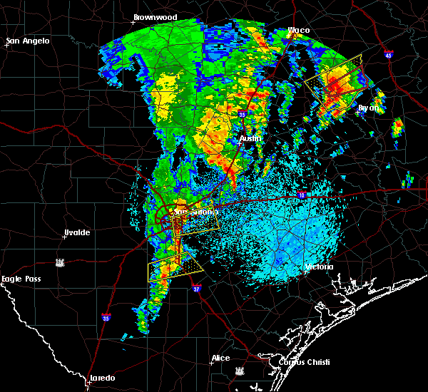 Radar Image for Severe Thunderstorms near Cibolo, TX at 4/13/2019 11:08 AM CDT