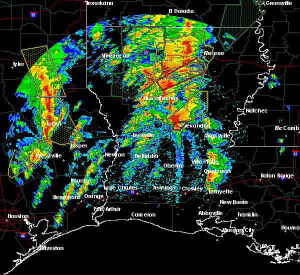 Radar Image for Severe Thunderstorms near Ball, LA at 4/13/2019 2:34 PM CDT
