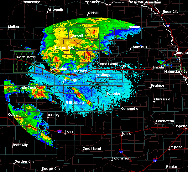 Radar Image for Severe Thunderstorms near Mankato, KS at 6/10/2015 7:01 PM CDT