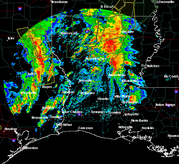Radar Image for Severe Thunderstorms near Midway, LA at 4/13/2019 2:56 PM CDT