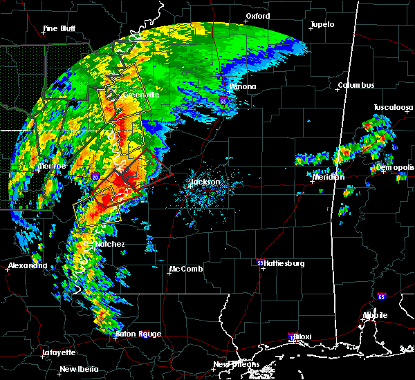 Radar Image for Severe Thunderstorms near Beechwood, MS at 4/13/2019 4:46 PM CDT