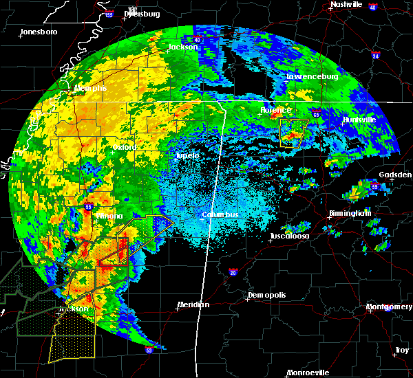 Radar Image for Severe Thunderstorms near Mississippi State, MS at 4/13/2019 8:11 PM CDT