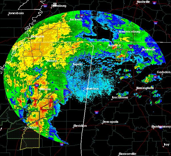Radar Image for Severe Thunderstorms near Starkville, MS at 4/13/2019 8:11 PM CDT