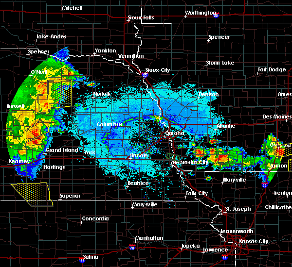 Radar Image for Severe Thunderstorms near Elgin, NE at 6/10/2015 7:16 PM CDT