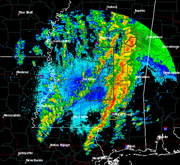 Radar Image for Severe Thunderstorms near Ellisville, MS at 4/13/2019 10:19 PM CDT