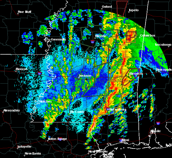 Radar Image for Severe Thunderstorms near Lauderdale, MS at 4/13/2019 10:41 PM CDT