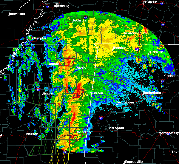 Radar Image for Severe Thunderstorms near Sherman, MS at 4/13/2019 10:47 PM CDT