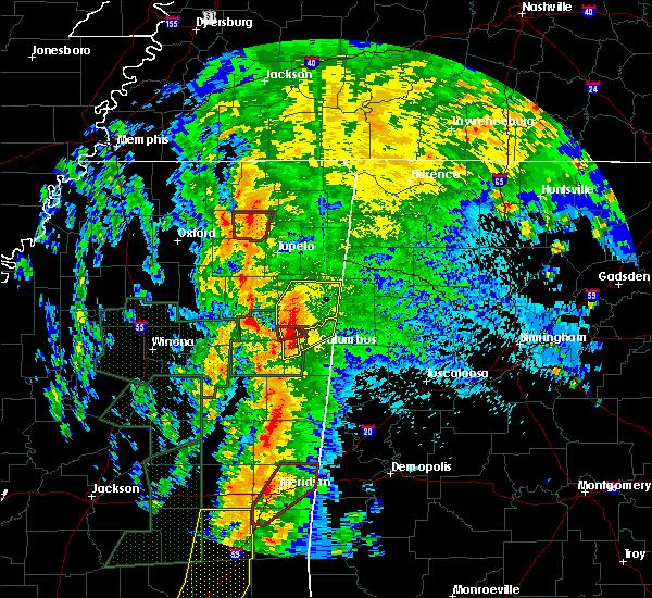 Radar Image for Severe Thunderstorms near Gattman, MS at 4/13/2019 10:53 PM CDT