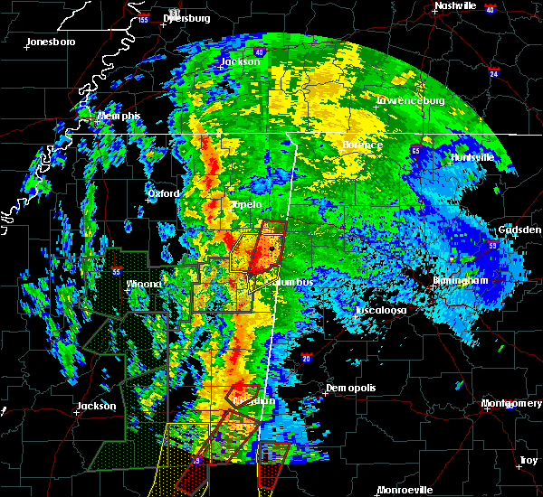 Radar Image for Severe Thunderstorms near Hamilton, MS at 4/13/2019 11:12 PM CDT