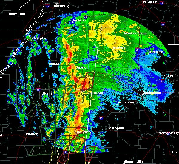 Radar Image for Severe Thunderstorms near Gattman, MS at 4/13/2019 11:12 PM CDT