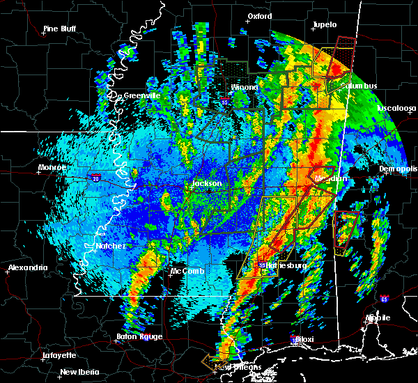 Radar Image for Severe Thunderstorms near Ellisville, MS at 4/13/2019 11:11 PM CDT