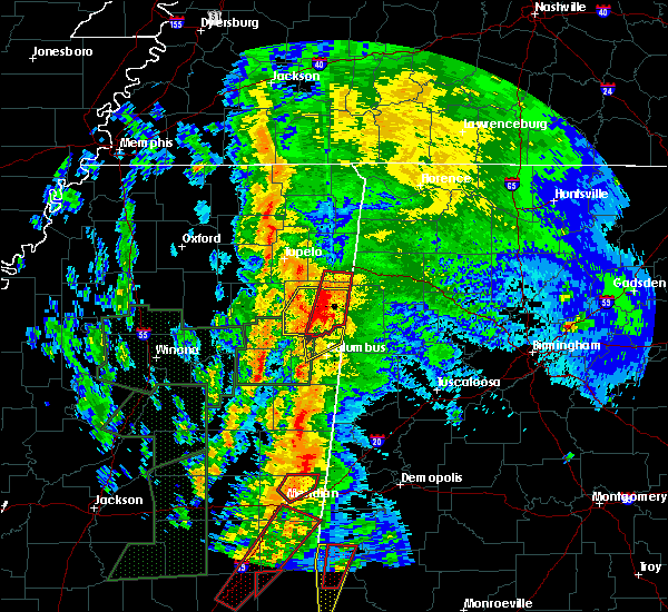 Radar Image for Severe Thunderstorms near Hamilton, MS at 4/13/2019 11:20 PM CDT