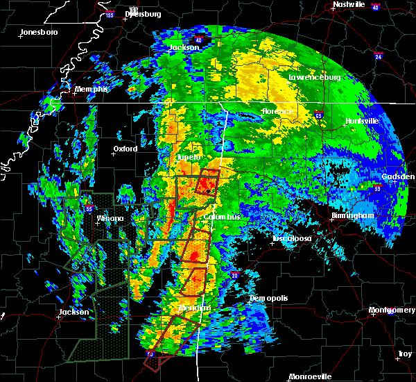 Radar Image for Severe Thunderstorms near Gattman, MS at 4/13/2019 11:36 PM CDT