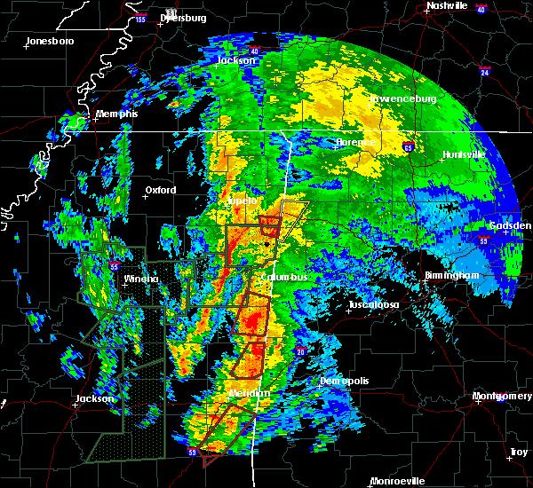 Radar Image for Severe Thunderstorms near Hamilton, AL at 4/13/2019 11:39 PM CDT