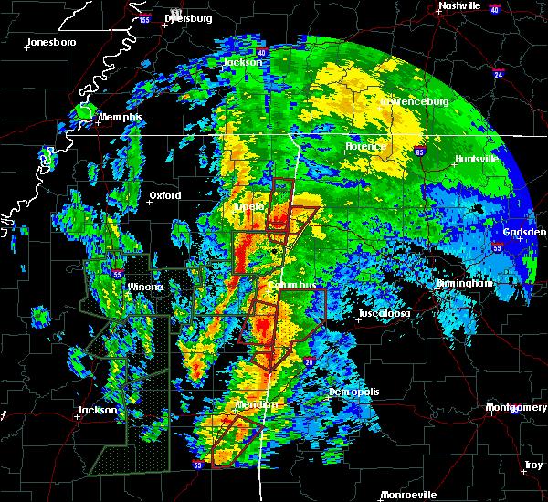 Radar Image for Severe Thunderstorms near Hamilton, AL at 4/13/2019 11:45 PM CDT