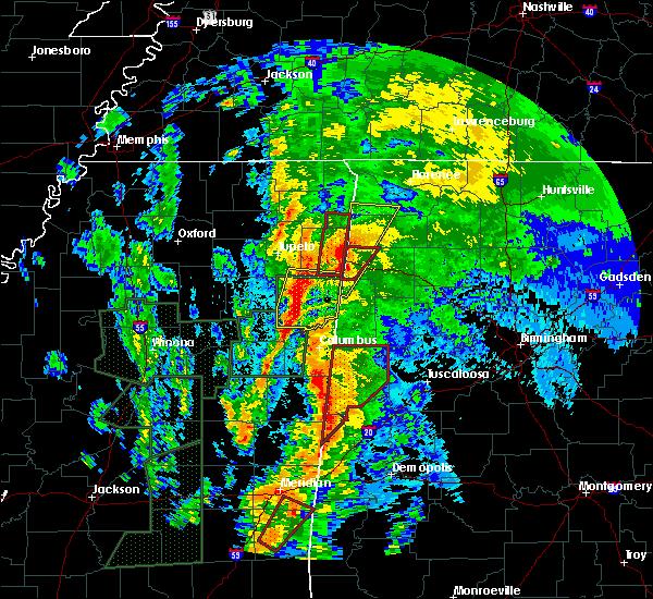 Radar Image for Severe Thunderstorms near Ethelsville, AL at 4/13/2019 11:52 PM CDT