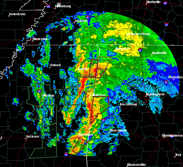 Radar Image for Severe Thunderstorms near Hamilton, MS at 4/13/2019 11:52 PM CDT