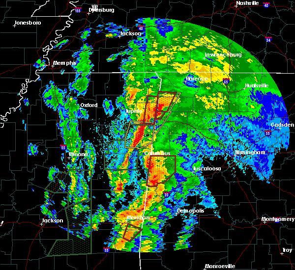 Radar Image for Severe Thunderstorms near Ethelsville, AL at 4/14/2019 12:04 AM CDT