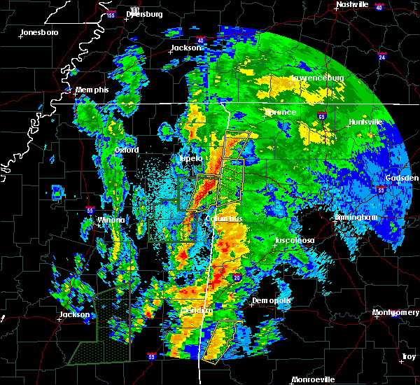 Radar Image for Severe Thunderstorms near Beaverton, AL at 4/14/2019 12:19 AM CDT