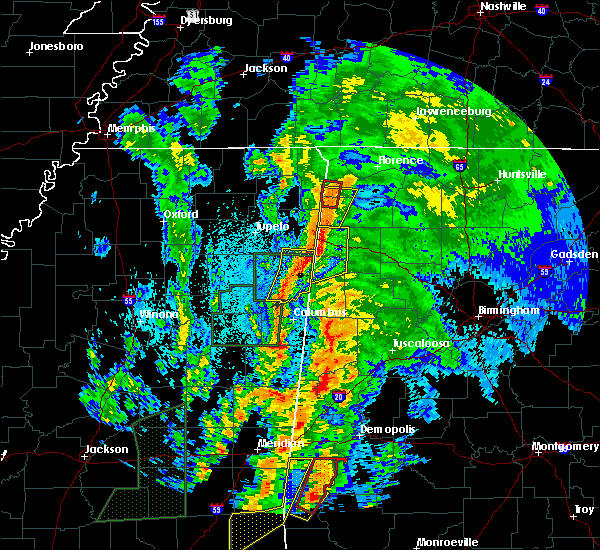 Radar Image for Severe Thunderstorms near Beaverton, AL at 4/14/2019 12:29 AM CDT