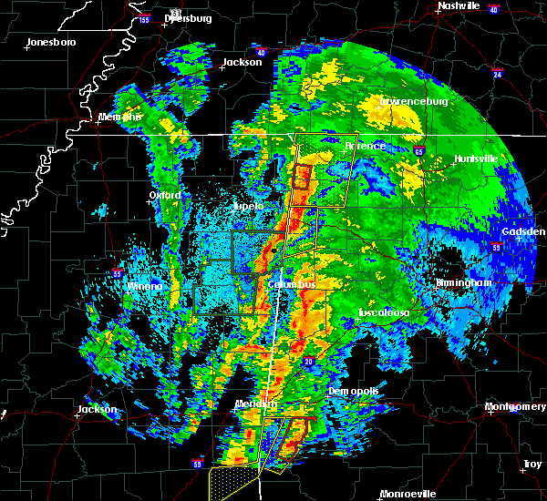 Radar Image for Severe Thunderstorms near Littleville, AL at 4/14/2019 12:35 AM CDT
