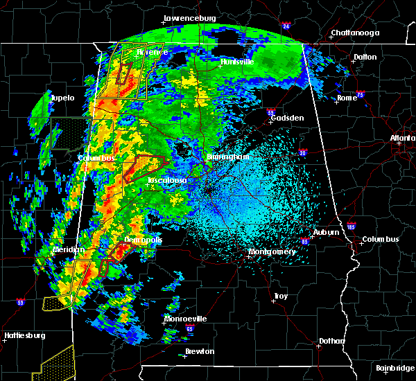 Radar Image for Severe Thunderstorms near Tuscaloosa, AL at 4/14/2019 1:14 AM CDT