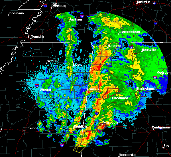 Radar Image for Severe Thunderstorms near Russellville, AL at 4/14/2019 1:18 AM CDT