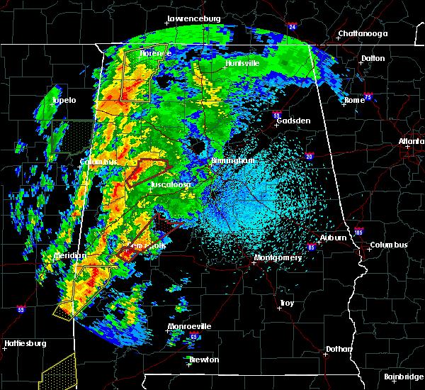 Radar Image for Severe Thunderstorms near Demopolis, AL at 4/14/2019 1:21 AM CDT