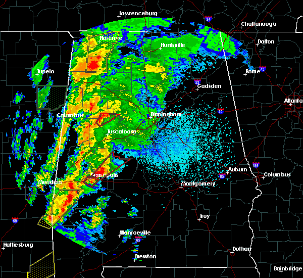 Radar Image for Severe Thunderstorms near Tuscaloosa, AL at 4/14/2019 1:24 AM CDT